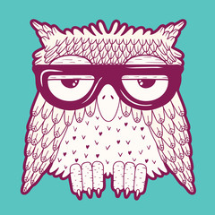 Owl in glasses