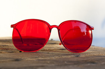 Brille Rot 1a