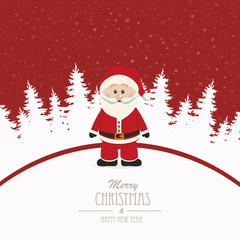 santa merry christmas winter background