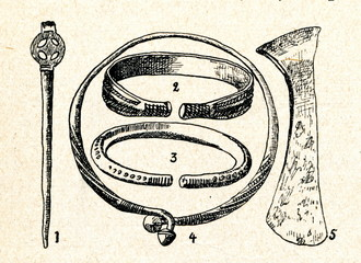 Early iron age artefacts (Lithuania)