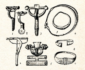Middle iron age jewelery (Lithuania)