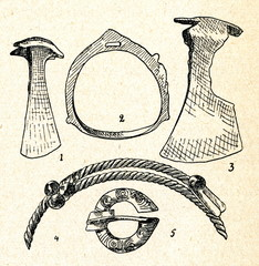 Late iron age artefacts from cremation burial (Lithuania)