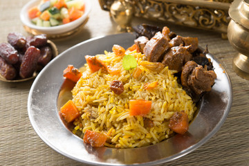 arab rice, ramadan foods in middle east usually served with tand