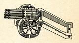 Organ gun or ribauldequin