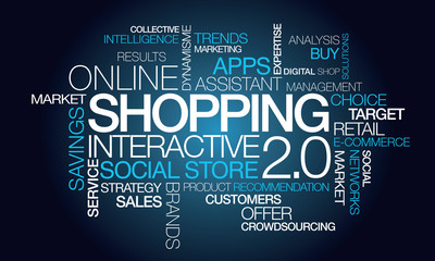 Shopping 2.0 online interactive social e-commerce tag cloud
