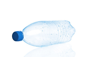 Empty plastic bottle closeup