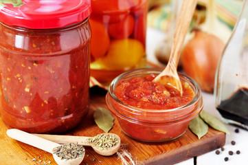 Canning Marinara sauce, tomato preserves
