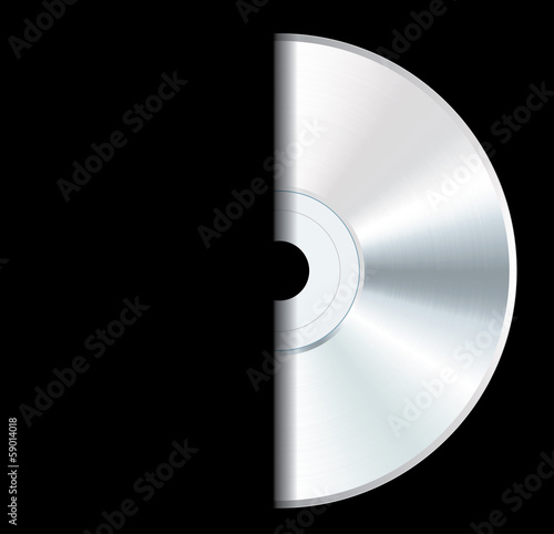 white CD black cover