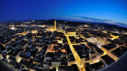 Firenze - vista notturna dal Campanile di Giotto