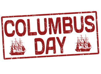 Columbus day stamp