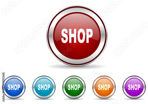 shop icon vector set
