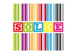 Discount and solde color icon