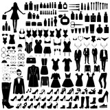 Collection of fashion silhouettes