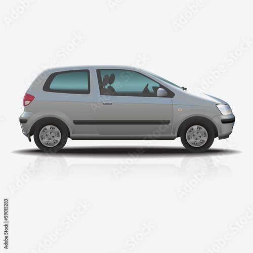 separate image: little city car is silver