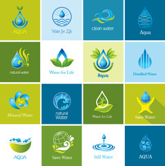 Set of  Water icons.