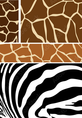 african theme animal hides vector patterns