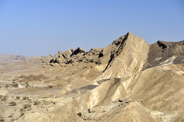 Ramon crater mountains in Negev desert.