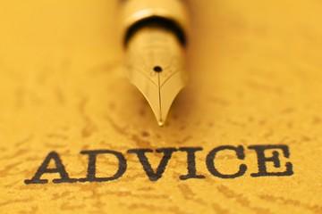 Fountain pen on advice