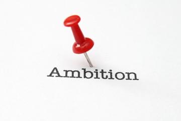 Push pin on ambition