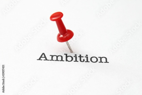 Push pin on ambition