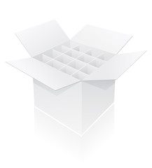 packing box for bottle vector illustration