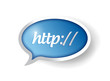 http internet bubble concept illustration design