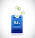 email mailbox illustration design