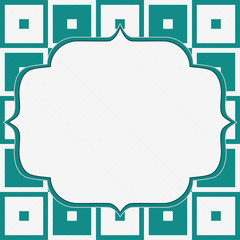 Teal and White Tapestry Square Fabric Background