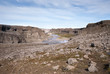 canyon e fiume a Dettifoss in Islanda