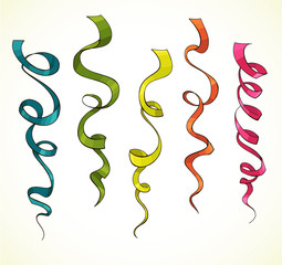 Party serpentine. Ribbons. Celebration. vector