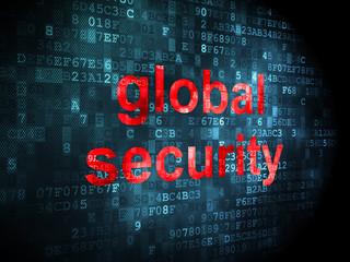 Safety concept: Global Security on digital background