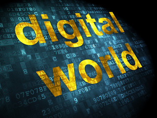 Data concept: Digital World on digital background