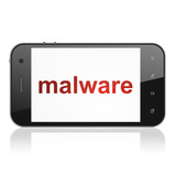 Security concept: Malware on smartphone poster
