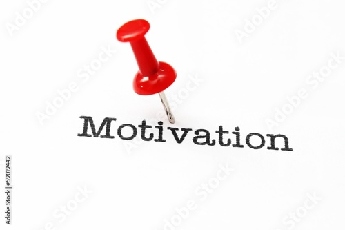 Push pin on motivation