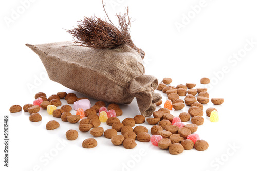 Jute bag with ginger nuts