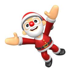 3D Santa character jumping. 3D Christmas Character Design Series