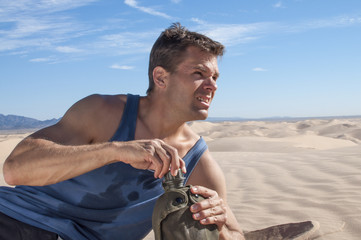 Dehydration in desert