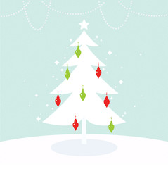 Beautiful Christmas and New Year greeting card