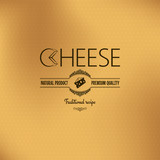 cheese vintage label design background