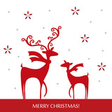 Stylish Christmas reindeer design with handcraft theme