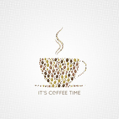 coffee cup beans design background