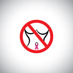 protect from breast cancer sign - abstract concept vector.