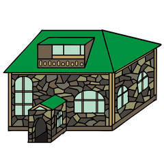 vector drawing of a house