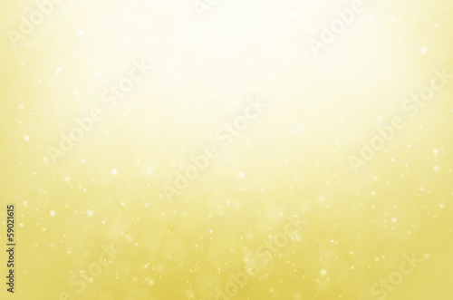 abstract colorful bokeh on yellow background