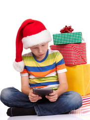 child with gifts