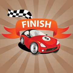 car at the finish line