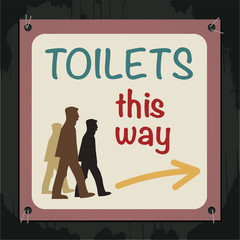 Toilets Sign, vector