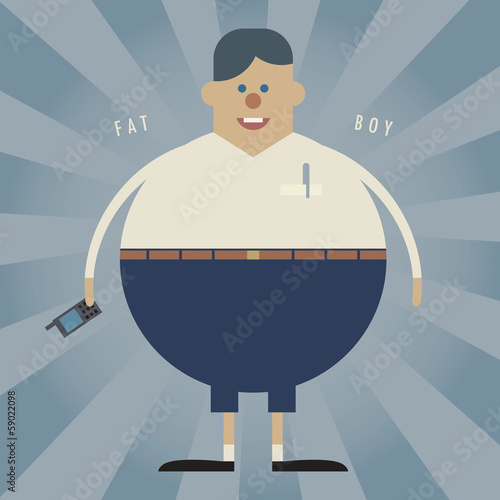 Fat boy, vector