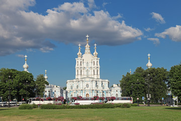 The Smolny Cathedral, Saint-Petersburg, Russia