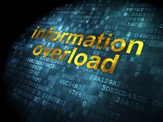 Information concept: Information Overload on digital background